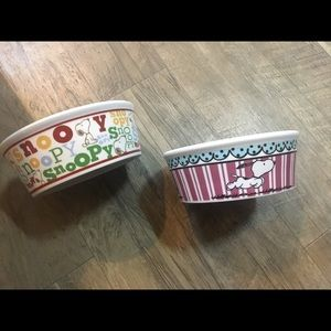 Snoopy Dog Cat Bowls & Food Storage Container